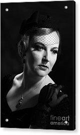 Glamourous Twenties Style Woman Acrylic Print by Amanda Elwell