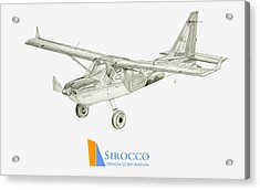 Glasair Sportsman Tc With Sirocco Design Corp. Winglets Logo 3 Acrylic Print by Nicholas Linehan