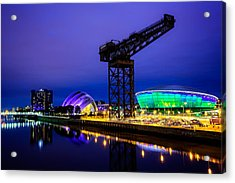 Glasgow At Night Acrylic Print