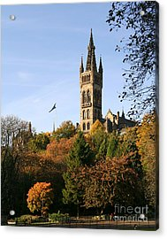 Glasgow University Acrylic Print by Liz Leyden