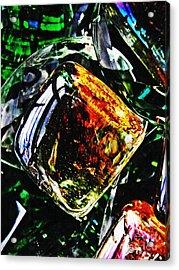 Glass Abstract 160 Acrylic Print by Sarah Loft