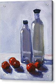 Glass And Cherries Acrylic Print