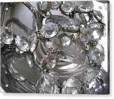 Glass And Silver Acrylic Print by Lindie Racz
