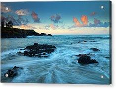 Glass Beach Dawn Acrylic Print by Mike  Dawson