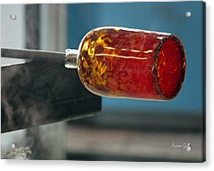 Glass Blowing Vii Acrylic Print by Suzanne Gaff