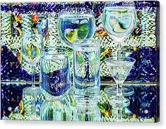 Glass Blues Acrylic Print