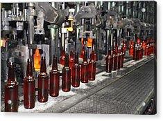 Glass Bottle Production Line Acrylic Print by Ria Novosti