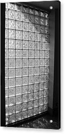 Glass Brick Window Acrylic Print by Tony Grider