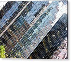 Glass Buildings 4 Acrylic Print by Robert Knight