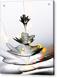 Acrylic Print featuring the mixed media Glass Flower by Anastasiya Malakhova