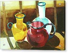 Glass Glare Acrylic Print by Art Scholz
