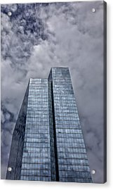 Glass High Rise And Clouds Acrylic Print by Robert Ullmann