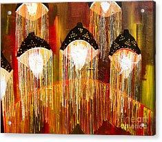 Glass Jellyfish Acrylic Print by Sabrina Phillips