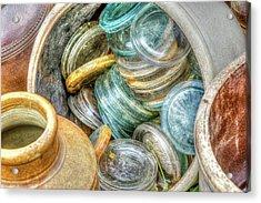 Glass Lids Acrylic Print