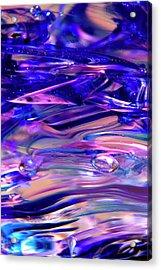 Glass Macro Xvi Acrylic Print by David Patterson
