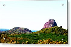 Glass Mountains - Extinct Volcanos Acrylic Print by Susan Vineyard