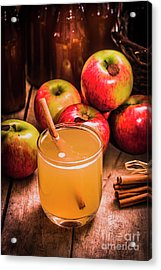 Glass Of Fresh Apple Cider Acrylic Print by Jorgo Photography - Wall Art Gallery