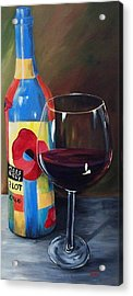 Glass Of Merlot   Acrylic Print by Torrie Smiley