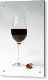 Glass Of Red Wine Acrylic Print