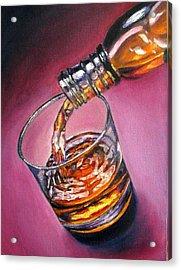 Glass Of Wine Original Oil Painting Acrylic Print by Natalja Picugina