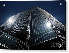 Glass Office Building Acrylic Print by Oleksiy Maksymenko