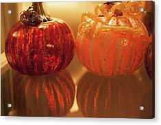 Acrylic Print featuring the photograph Glass Pumpkin by Lora Lee Chapman