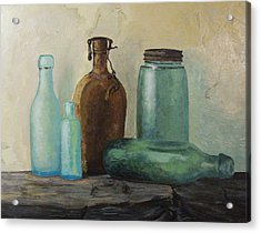 Acrylic Print featuring the painting Glass by Rachel Hames