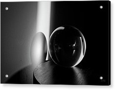Glass Sphere In Light And Shadow Acrylic Print by David Gordon