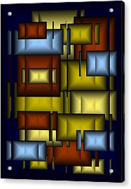 Glass Tile Abstract Acrylic Print by Terry Mulligan