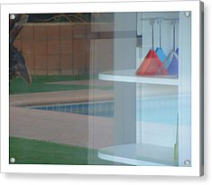 Glass Water Plastic Flutes Acrylic Print