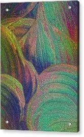 Glassed Leaf Acrylic Print by Jack Zulli
