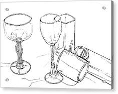 Glasses Acrylic Print by Jean Haynes
