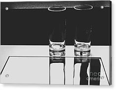 Glasses On A Table Bw Acrylic Print