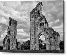Acrylic Print featuring the photograph Glastonbury Abbey by Elvira Butler
