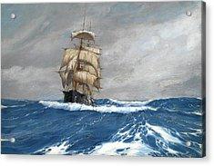 Gleaner At Sea Acrylic Print by Montague Dawson
