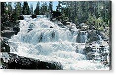 Glen Alpine Falls Mist Acrylic Print