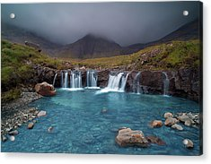 Glen Brittle Fairy Pool And The Balck Cuillins Acrylic Print