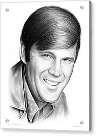 Glen Campbell Acrylic Print by Greg Joens