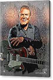 Glen Campbell - Singing Icon Acrylic Print