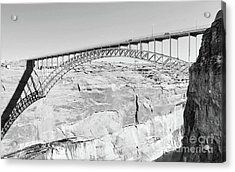 Glen Canyon Bridge Bw Acrylic Print