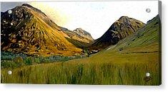 Glen Coe Acrylic Print by James Shepherd