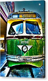 Glen Echo Trolley Acrylic Print by Charlie Parker