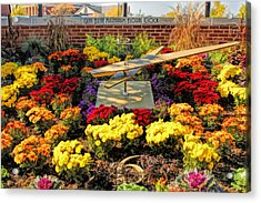 Acrylic Print featuring the painting Glen Ellyn Millennium Flower Clock by Christopher Arndt
