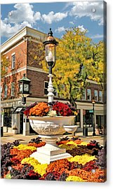 Acrylic Print featuring the painting Glen Ellyn Watering Trough by Christopher Arndt