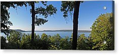 Glen Lake From Inspiration Point Acrylic Print by Twenty Two North Photography