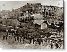 Glen Lyon Pa Susquehanna Coal Co Breaker Late 1800s Acrylic Print