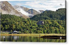 Acrylic Print featuring the photograph Glencoe House Landscape by Grant Glendinning