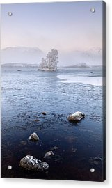 Acrylic Print featuring the photograph Glencoe Misty Winter Sunrise by Grant Glendinning