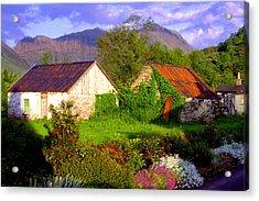Glencoe Village Acrylic Print by John McKinlay