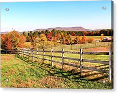 Glendale Road View In The Fall Acrylic Print